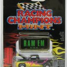 Racing Champions Hot Rods Issue #6 1996 Dodge Ram with die cast emblem RAM EM U.S.A. Truck New