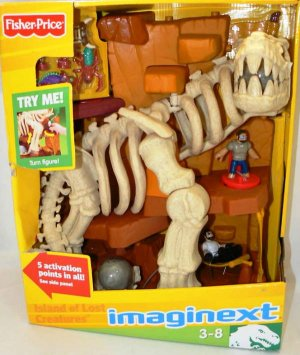 Fisher Price Imaginext Island of Lost Creatures Dinosaur Skeleton Playset New
