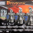 Mega Bloks Dragons War Chest Set 9862: Valtheran Silver Warriors 40 Pcs NEW