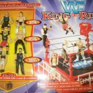 WWF WWE Jakks Pacific King of the Ring Action Ring with 6 Mini Figures New