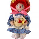 "Brass  Key Best Friends Classic Raggedy Ann 7"" Porcelain Doll with Yellow Puppy NEW"