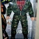 "WWF WWE Jakks Federation Fighters F2 CAMOUFLAGE Stone Cold Steve Austin 12"" Action Figure New"