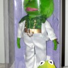 "Jim Henson's The Muppets Retro Collection Kermit the Frog Brass Key 8"" inch Porcelain Doll NEW"