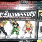 WWE Jakks Micro Aggression Series 3, Jeff Hardy, John Cena and Carlito Action Figures