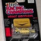 Racing Champions Mint Edition Issue #21 1957 Yellow Chevy Bel Air with die cast emblem 1:63 scale