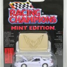 Racing Champions Mint Edition Issue #14 1996 White Pontiac Firebird with die cast emblem 1:63 scale