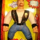 "WWE WWF 1998 Jakks Pacific Bone Crunchin' Buddies Stone Cold Steve Austin 17"" Buddy ( Red Box ) New"