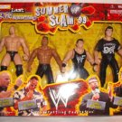 WWF Jakks Summer Slam '99 - Last Man Standing - Steve Austin, The Rock, Vince & Shane McMahon New