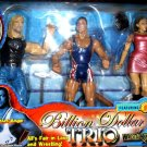 WWF Jakks Billion Dollar Trio Triple H, Kurt Angle & Stephanie Mcmahon Helmsley Action Figures New