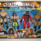 WWF Jakks Championship Title Belt Series Stone Cold Austin, The Rock, X-Pac & Kane Action Figures