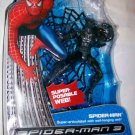 Hasbro Spider-Man 3 Movie Collection Black Costume SpiderMan Action Figure With Wall Hanging Web New