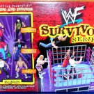 WWF WWE Jakks Pacific Survivor Series Action Ring with 6 Mini Action Figures New