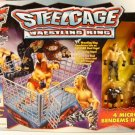 WWF WWE Jakks Pacific STEELCAGE #2 Wrestling Ring with 4 Micro Bendens Figures New