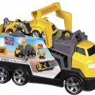 MEGA BLOKS 652 Caterpillar CAT Tiny 'N Tuff Constructor vehicle 7 Pcs Build n Play New