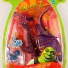 Shrek 2 Movie Dragon Action Figure with Launchin' Fireball and Flappin' Wings Baby Dronkey New