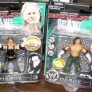 WWE TNA Jakks Deluxe Build N' Brawl Series 3 Mini 4 Inch JEFF HARDY & MATT HARDY Action Figures
