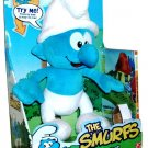 "The Smurfs Talking Smurf Plush Pal Includes Bonus DVD ""The Smurf's Apprentice"" New"