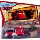 DISNEY PIXAR CARS Movie World Of Cars Movie Moments 2-Pack Firefighting Engine Red & Stanley WOC NEW
