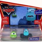 Disney Pixar Cars Animated Movie 1:55 Die Cast Supercharged Two-Pack Monster's Inc. Mike & Sulley