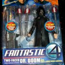 Fantastic Four F4 The Movie Two-faced Dr. Doom Action Figure with Light & Sound Rocket Launcher