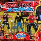 Toy Biz WCW TNA World Championship Wrestling Red & Black Attack Special T-Shirt Edition 3 Pack New