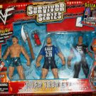 WWF Jakks Survivor Series TitanTron Live - B.A. Billy Gunn, Stone Cold Steve Austin & The Rock New