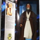 "Kenner Star Wars Collector Series 12"" Obi Wan Kenobi Silver Buckle Rebel Alliance Action Figure Doll"