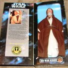 "Kenner Star Wars Collector Series 12"" Obi Wan Kenobi Gold Buckle Rebel Alliance Action Figure Doll"