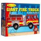 Melissa & Doug Giant Fire Truck Floor Puzzle 24 Jumbo Pcs. New