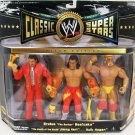 WWE TNA Jakks Classic Jimmy Hart, Brutus The Barber Beefcake and Hulk Hogan Action Figure 3-Pack NEW