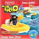 Fisher Price Trio Building System Deep Sea Diver with Pieces of bricks, sticks and panels New