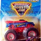 Mattel Hot Wheels 2009 Monster Jam 21/75 SUPERMAN Spectraflames Truck Scale 1:64 NEW