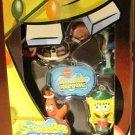 Nickelodeon 2010 Spongebob Squarepants 4 character & logo mini Holiday Ornament Set New
