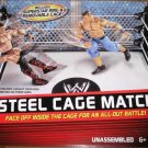 Mattel WWE Wrestling Exclusive Ring Steel Cage Match [ John Cena & The Miz Action Figures ] New