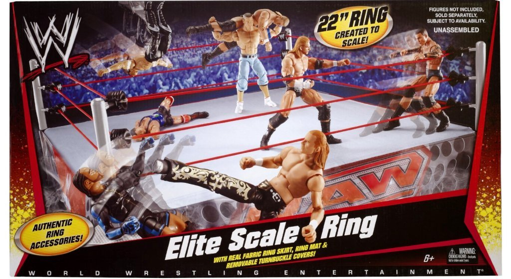 "Mattel WWE 22"" Wrestling Elite Scale Ring [ No Figures included ] with Authentic Ring Accessories"