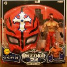 WWE Jakks Wrestlemania XXI 21 Exclusive Signature Gear Rey Mysterio Action Figure with Red Mask New