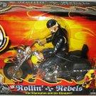 "WWE Jakks Pacific Rollin Rebels Hulk Hogan "" The Champion & His Chopper "" Action figure + Bike New"