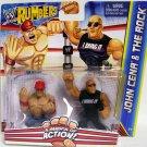 WWE Mattel Wrestling Rumblers Wrestlemania XXVIII The Rock & John Cena Action Figure 2-Pack New