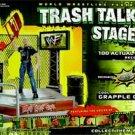 WWF WWE Jakks Pacific Trash Talkin' Stage Wrestling Playset Tron Ready New