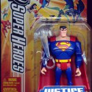 """Mattel DC Justice League Unlimited Superman with ice breath 4"""" Action Figure [ Yellow Card ] New"""