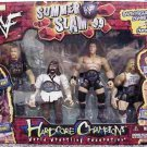 "WWF WWE Jakks Pacific Summer Slam '99 Hardcore Champions Toys""R""Us Exclusive 4 Pack New"