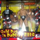 "WWF WWE Jakks Pacific ""A Cold Day in Dudleyville"" Dudley Boyz & The Rock Action Figure 3 Pack New"