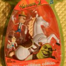 DreamWorks Shrek 2 Movie Noble Steed & Pinocchio Action Figures with Rearing Up Action New