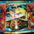 WWF WWE Jakks Pacific SuperStars Signature Series Hardcore Action Ring with 6 Action Figures New
