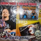 WWF WWE Jakks Hardcore Collection Steve Austin Grudge Match Stone Cold vs Big Show Mini Figures
