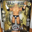 WWE Jakks Pacific MAXIMUM Aggression 12 Inch Series 1 TRIPLE H SUPER ARTICULATED Action Figure New