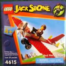 Lego Jack Stone Red Recon Flyer Airplane ( 4615 ) 21 pcs Building Set NEW