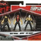 TNA Jakks Pacific Impact WRESTLING Series 2 Micro Figure 3-Pack Hulk Hogan, Abyss & Jeff Hardy New