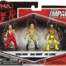 TNA Jakks Impact WRESTLING Series 2 Micro Figure 3-Pack Kevin Nash, Eric Young & Jay Lethal New