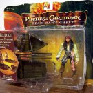 Disney Pirates Of The Carribean 2 Deluxe Ocean Drenched Jack Sparrow with Exploding Longboat New